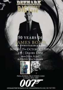 50 Years of James Bond - The Unmistakable Music at Pizza Express