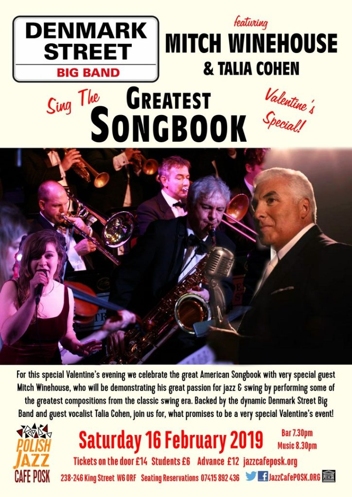 Greatest Songbook ft. Bobby Davro, Mitch Winehouse and Talia Cohen poster
